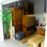 Storage unity filled with household items