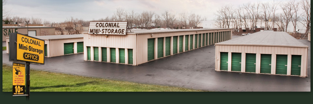 Three Rows of Self-Storage units